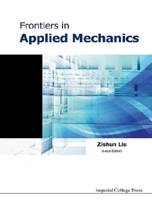 cover image of Frontiers In Applied Mechanics