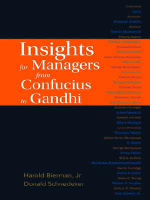 cover image of Insights For Managers From Confucius to Gandhi