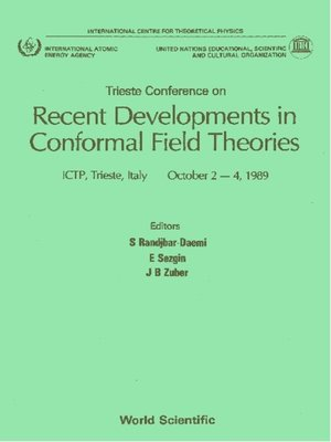 cover image of Recent Developments In Conformal Field Theories--Trieste Conference