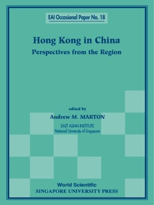 cover image of Hong Kong In China