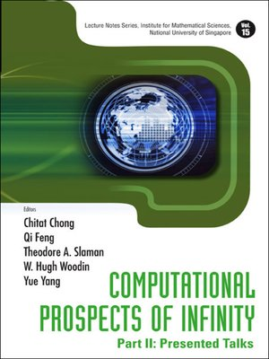 cover image of Computational Prospects of Infinity--Part Ii