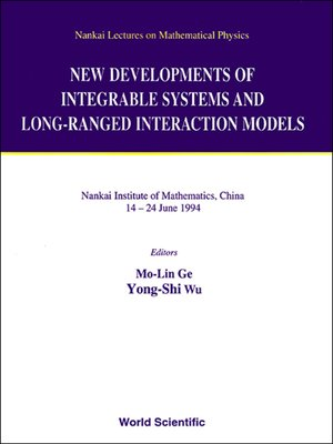 cover image of New Developments of Integrable Systems and Long-ranged Interaction Models