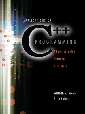 cover image of Applications of C++ Programming
