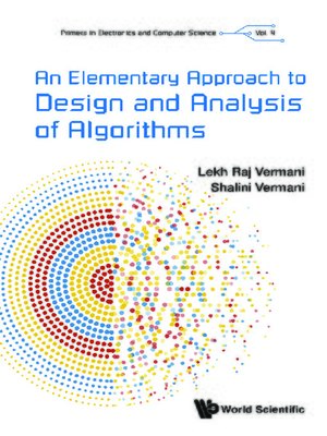 cover image of An Elementary Approach to Design and Analysis of Algorithms