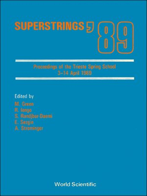 cover image of Superstrings '89--Proceedings of the Trieste Spring School