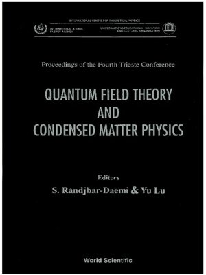 cover image of Quantum Field Theory and Condensed Matter Physics