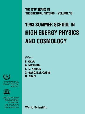 cover image of High Energy Physics and Cosmology--Proceedings of the 1993 Summer School