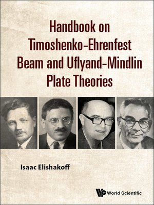 cover image of Handbook On Timoshenko-ehrenfest Beam and Uflyand- Mindlin Plate Theories