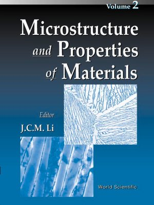 cover image of Microstructure and Properties of Materials, Vol 2