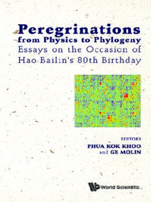 cover image of Peregrinations From Physics to Phylogeny