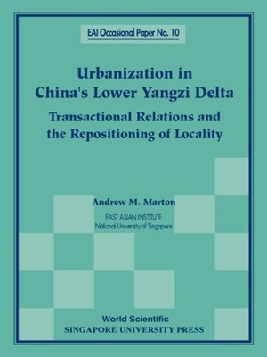 cover image of Urbanization In China's Lower Yangzi Delta