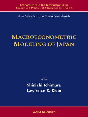 cover image of Macroeconometric Modeling of Japan