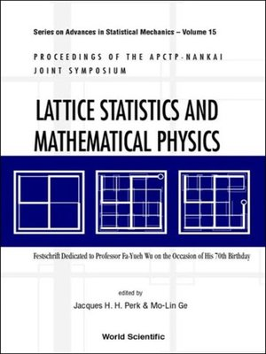 cover image of Lattice Statistics and Mathematical Physics