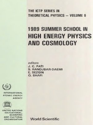 cover image of High Energy Physics and Cosmology--1989 Summer School