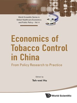 cover image of Economics of Tobacco Control In China