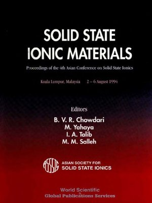cover image of Solid State Ionic Materials--Proceedings of the 4th Asian Conference On Solid State Ionics