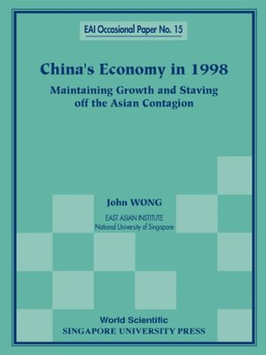 cover image of China's Economy In 1998