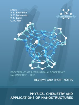 cover image of Physics, Chemistry and Applications of Nanostructures--Proceedings of the International Conference Nanomeeting--2015