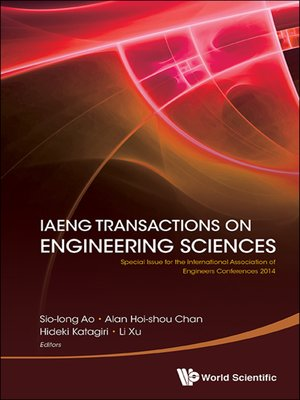 cover image of Iaeng Transactions On Engineering Sciences