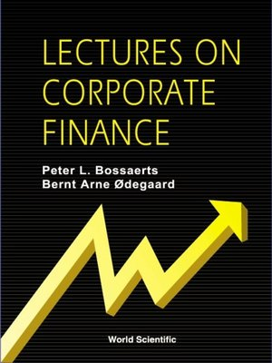 cover image of Lectures On Corporate Finance