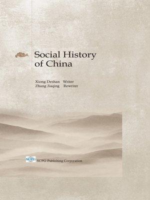 cover image of Social History of China