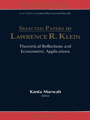cover image of Selected Papers of Lawrence R Klein