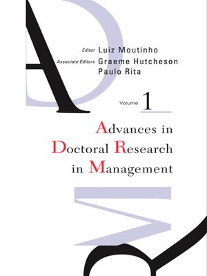 cover image of Advances In Doctoral Research In Management