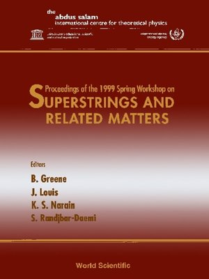 cover image of Superstrings and Related Matters--Proceedings of the 1999 Spring Workshop
