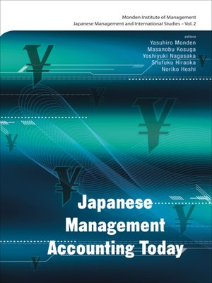 cover image of Japanese Management Accounting Today