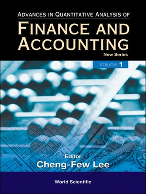cover image of Advances In Quantitative Analysis of Finance and Accounting--New Series
