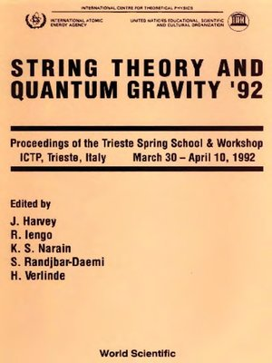 cover image of String Theory and Quantum Gravity '92--Proceedings of the Trieste Spring School and Workshop