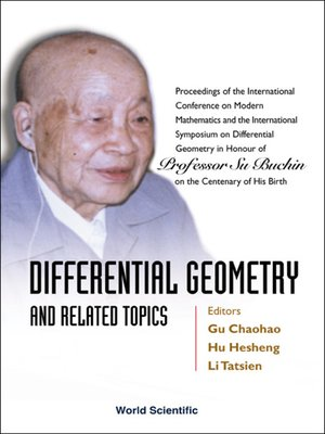 cover image of Differential Geometry and Related Topics--Proceedings of the International Conference On Modern Mathematics and the International Symposium On Differential Geometry