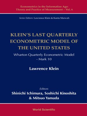 cover image of Klein's Last Quarterly Econometric Model of the United States