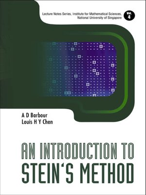 cover image of An Introduction to Stein's Method