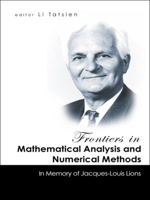 cover image of Frontiers In Mathematical Analysis and Numerical Methods