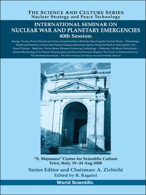 cover image of International Seminar On Nuclear War and Planetary Emergencies--40th Session