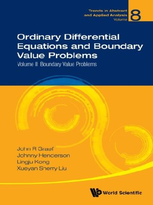 cover image of Ordinary Differential Equations and Boundary Value Problems--Volume Ii