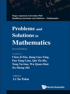 cover image of Problems and Solutions In Mathematics ()