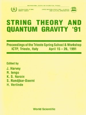 cover image of String Theory and Quantum Gravity '91--Proceedings of the Trieste Spring School and Workshop
