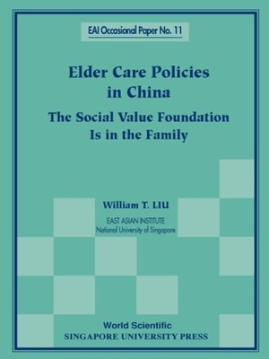 cover image of Elder Care Policies In China