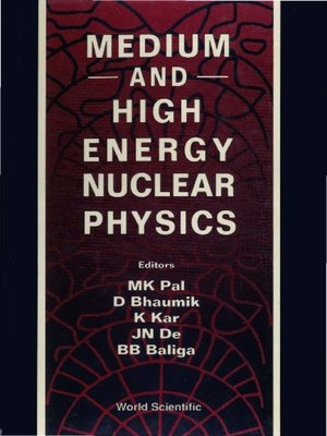 cover image of Medium and High Energy Nuclear Physics--Proceedings of the Conference
