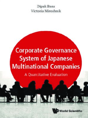 cover image of Corporate Governance System of Japanese Multinational Companies