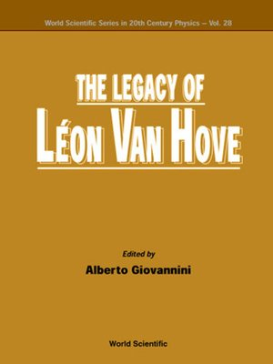cover image of The Legacy of Leon Van Hove