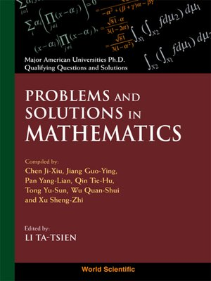 cover image of Problems and Solutions In Mathematics