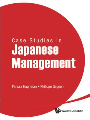 cover image of Case Studies In Japanese Management
