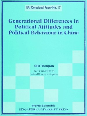 cover image of Generational Differences In Political Attitudes and Political Behaviour In China