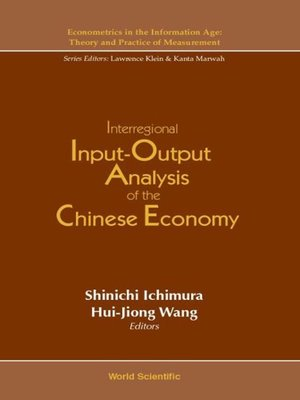 cover image of Interregional Input-output Analysis of the Chinese Economy