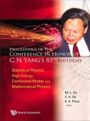 cover image of Proceedings of the Conference In Honor of C N Yang's 85th Birthday
