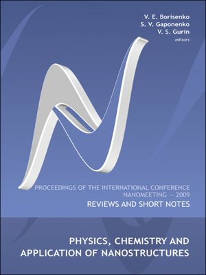 cover image of Physics, Chemistry and Application of Nanostructures