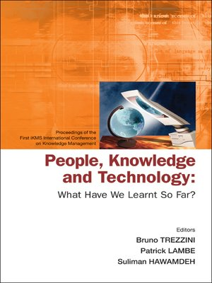 cover image of People, Knowledge and Technology
